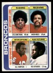 1978 Topps #508   Broncos Leaders & Checklist Front Thumbnail