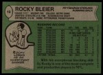 1978 Topps #19  Rocky Bleier  Back Thumbnail