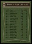1978 Topps #508   -  Otis Armstrong / Haven Moses / Bill Thompson / Rick Upchurch Broncos Leaders & Checklist Back Thumbnail