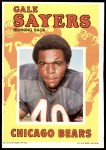 1971 Topps Football Posters #12  Gale Sayers  Front Thumbnail