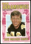 1971 Topps Football Posters #22  Dan Abramowicz  Front Thumbnail