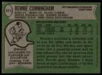 1978 Topps #371  Bennie Cunningham  Back Thumbnail