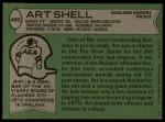 1978 Topps #460  Art Shell  Back Thumbnail