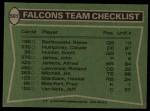 1978 Topps #501   Falcons Leaders Checklist Back Thumbnail