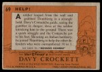 1956 Topps Davy Crockett #69   Help!  Back Thumbnail