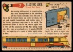 1955 Topps Rails & Sails #7   Electric Locomotive Back Thumbnail