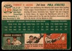 1954 Topps #129  Spook Jacobs  Back Thumbnail