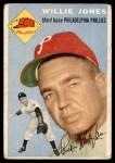 1954 Topps #41 WHT Willie Jones  Front Thumbnail