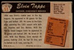 1955 Bowman #51  Elvin Tappe  Back Thumbnail