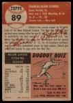 1953 Topps #89  Chuck Stobbs  Back Thumbnail