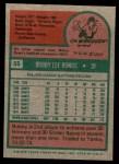 1975 Topps Mini #55  Bobby Bonds  Back Thumbnail