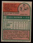 1975 Topps Mini #647  Claudell Washington  Back Thumbnail