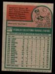 1975 Topps Mini #277  Frank Taveras  Back Thumbnail