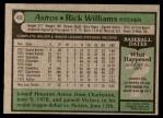 1979 Topps #437  Rick Williams  Back Thumbnail