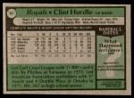 1979 Topps #547  Clint Hurdle  Back Thumbnail