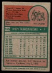 1975 Topps Mini #595  Joe Niekro  Back Thumbnail