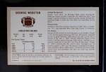 1970 Kellogg's #43  George Webster  Back Thumbnail