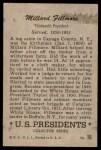 1952 Bowman U.S. Presidents #16  Millard Fillmore  Back Thumbnail