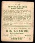 1933 Goudey #68  Horace Lisenbee  Back Thumbnail