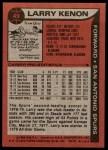 1979 Topps #49  Larry Kenon  Back Thumbnail