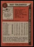 1979 Topps #41  Rudy Tomjanovich  Back Thumbnail