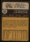 1973 Topps #426  Dave LaRoche  Back Thumbnail