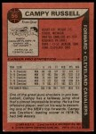 1979 Topps #56  Campy Russell  Back Thumbnail