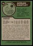1977 Topps #56  Adrian Dantley  Back Thumbnail