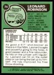 1977 Topps #74  Leonard Robinson  Back Thumbnail