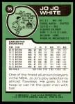 1977 Topps #35  JoJo White  Back Thumbnail