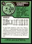 1977 Topps #34  Caldwell Jones  Back Thumbnail