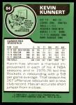 1977 Topps #84  Kevin Kunnert  Back Thumbnail