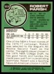 1977 Topps #111  Robert Parish  Back Thumbnail