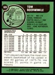 1977 Topps #69  Tom Boerwinkle  Back Thumbnail