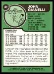 1977 Topps #31  John Gianelli  Back Thumbnail