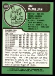 1977 Topps #107  Jim McMillian  Back Thumbnail