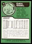 1977 Topps #41  Dan Issel  Back Thumbnail