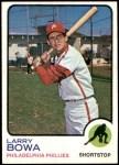 1973 Topps #119  Larry Bowa  Front Thumbnail