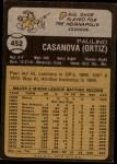 1973 Topps #452  Paul Casanova  Back Thumbnail