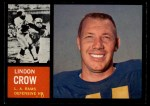 1962 Topps #87  Lindon Crow  Front Thumbnail