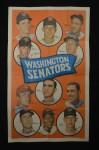 1969 Topps Team Poster #23   Washington Senators Front Thumbnail