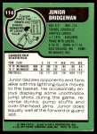 1977 Topps #114  Junior Bridgeman  Back Thumbnail