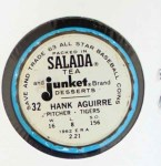 1963 Salada Metal Coins #32  Hank Aguirre  Back Thumbnail