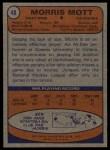 1974 Topps #48  Morris Mott  Back Thumbnail