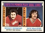 1974 Topps #6   -  Mickey Redmond / Rick MacLeish Power Play Goal Leaders Front Thumbnail