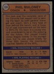 1974 Topps #104  Phil Maloney  Back Thumbnail