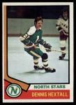 1974 Topps #115  Dennis Hextall  Front Thumbnail