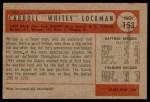 1954 Bowman #153 ALL Whitey Lockman  Back Thumbnail