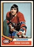 1974 Topps #53  Serge Savard  Front Thumbnail