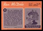 1970 Topps #63  Ron McDole  Back Thumbnail